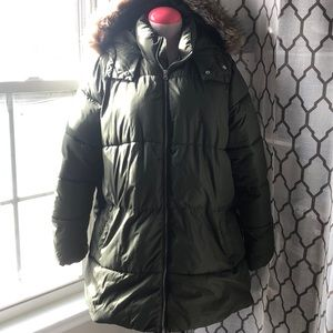 Puffed coat Olive Green
